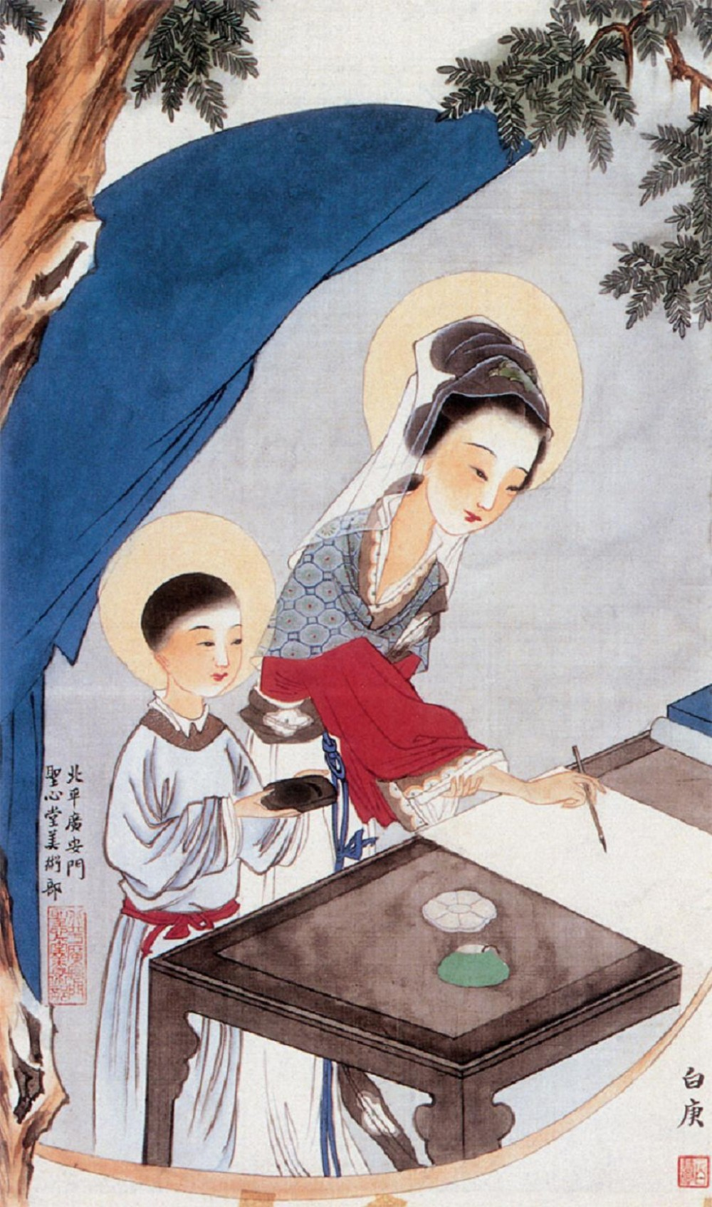 Chinese icons the numinist for Christian mural paintings